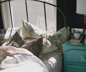 bed, vintage, and bedroom image