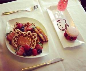 breakfast, fancy, and hello kitty image