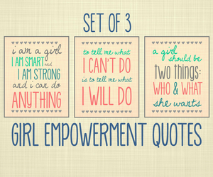 girl power and quote image