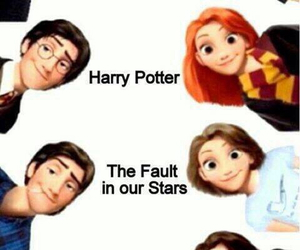 divergent, harry potter, and the fault in our stars image