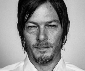 black and white, norman reedus, and twd image