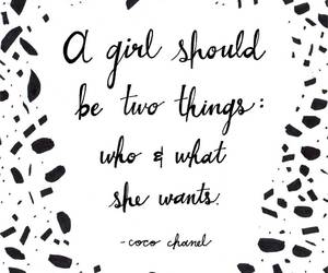quote, girl, and coco chanel image