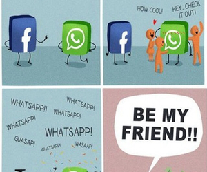 facebook, funny, and friends image