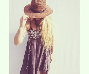 dress, hat, and trend image