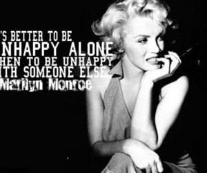 quote, Marilyn Monroe, and alone image