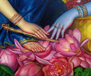art, flute, and lotus image