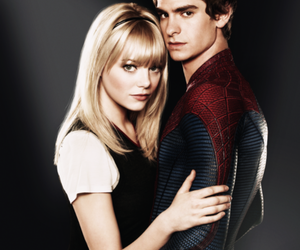 emma stone, andrew garfield, and peter parker image