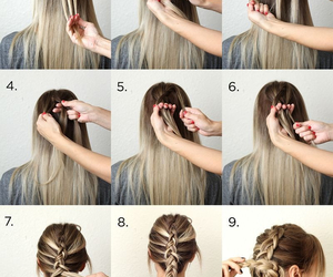 braid, tutorial, and hair image