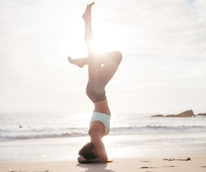 yoga, beach, and fit image