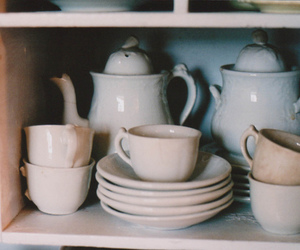 vintage, white, and cup image