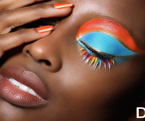 colorful, face, and rainbow image
