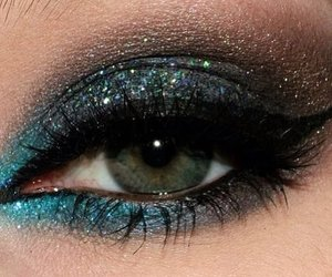 glitter, black, and blue image