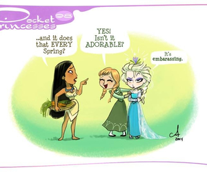 disney, pocket princesses, and pocahontas image