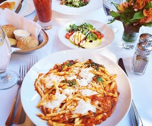 food, drink, and pasta image