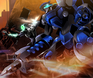 anime, accel world, and silver crow image