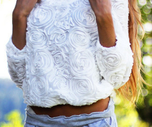 floral, outfits, and roses image
