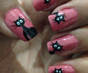 cats, nail art, and cool design image