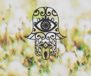 hippie, indie, and hamsa image