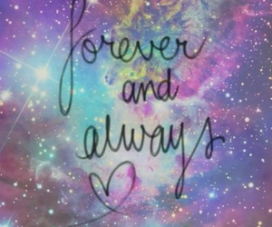 forever, always, and galaxy image