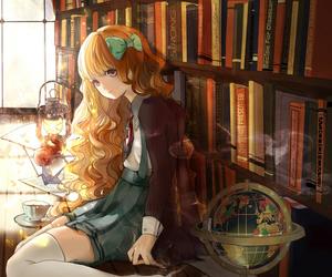 anime girl, books, and favorite image