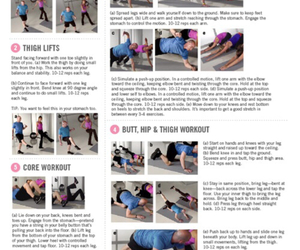 fitness, routine, and fitspo image