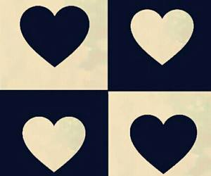 background, french blue, and hearts image