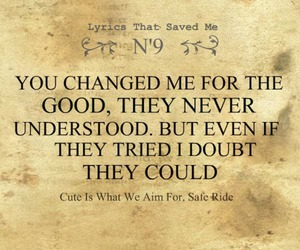 change, cute is what we aim for, and Lyrics image