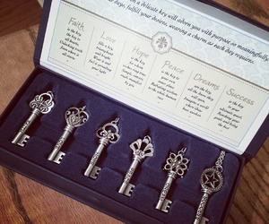 keys, necklace, and silver image
