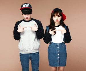 couple, korean, and fashion image