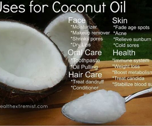 uses coconut oil tips image