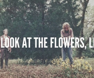 flowers, lizzie, and walking dead image