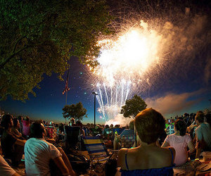 fireworks, photography, and people image