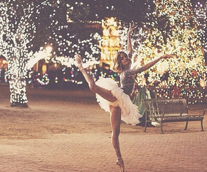 ballerina, lights, and ballet image