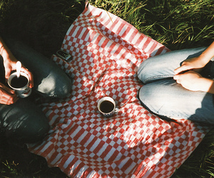 picnic, coffee, and vintage image