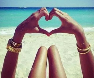 summer, beach, and love image