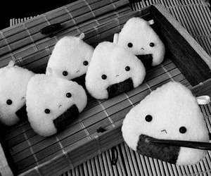 food, onigiri, and kawaii image