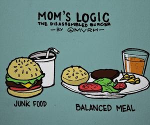food, funny, and mom image