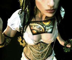 alternative, contacts, and corset image