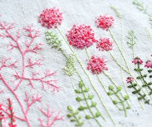 embroider, fabric, and lace image