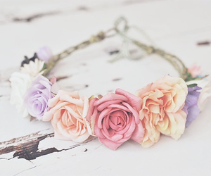 beautiful, crown, and flower image
