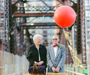 anniversary, couple, and baloon image