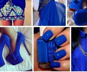 blue, nail, and shose image