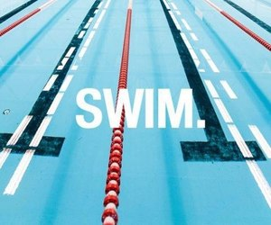 swim, swimming, and sport image