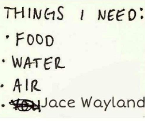 jace, the mortal instruments, and food image