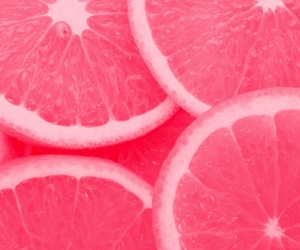 pink, fruit, and orange image