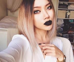 makeup, blonde, and black image