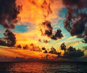 clouds, ocean, and sea image