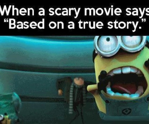 minions, scary, and funny image