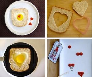 food, heart, and diy image