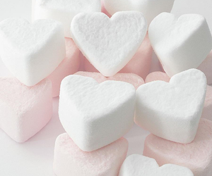 hearts, marshmallow, and candy image